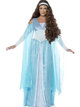 Adult Deluxe Medieval Maiden Costume Thumbnail