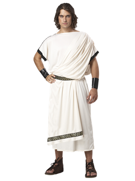 Adult Deluxe Mens Classic Toga Costume Couples Costume