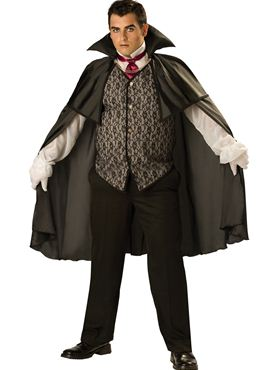 Adult Deluxe Plus Size Midnight Vampire Costume Thumbnail