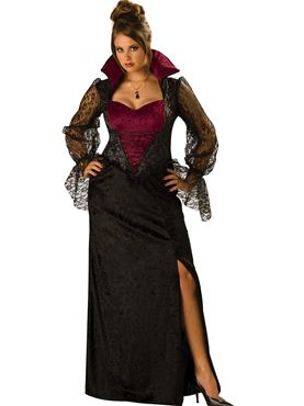Adult Deluxe Plus Size Midnight Vampiress Costume Thumbnail