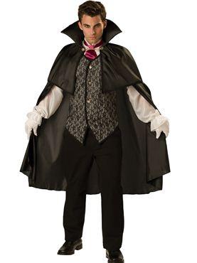 Adult Deluxe Midnight Vampire Costume Couples Costume