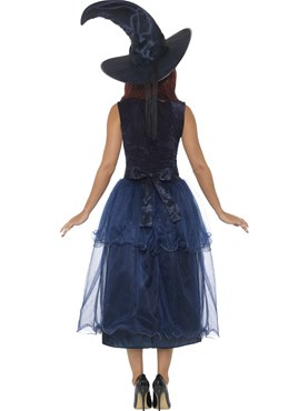 Adult Deluxe Midnight Witch Costume - Side View