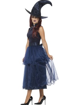 Adult Deluxe Midnight Witch Costume - Back View