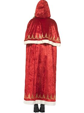 Adult Deluxe Miss Claus Cape - Side View