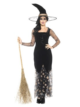 Adult Deluxe Moon and Stars Witch Costume