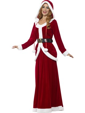 Adult Deluxe Ms Claus Costume - Back View