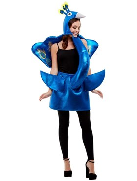 Adult Deluxe Peacock Costume - Side View