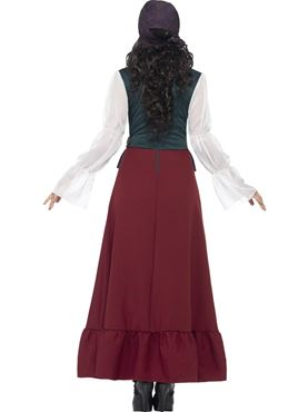 Adult Deluxe Pirate Buccaneer Beauty Costume - Side View
