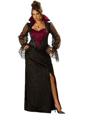 Adult Deluxe Plus Size Midnight Vampiress Costume Couples Costume