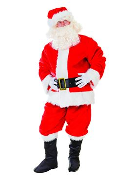 Adult Deluxe Plush Santa Suit Costume