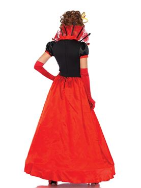 Adult Deluxe Queen of Hearts Costume - Back View