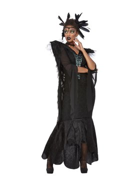 Adult Deluxe Raven Queen Costume - Back View