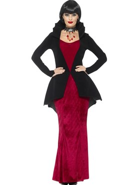 Adult Deluxe Regal Vampiress Costume - Back View