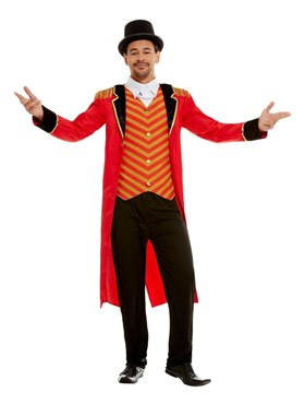 Adult Deluxe The Greatest Showman Ringmaster Costume Couples Costume