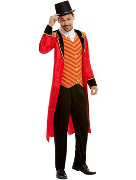 Adult Deluxe The Greatest Showman Ringmaster Costume - Back View