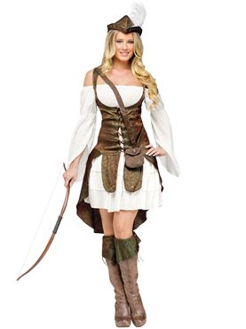 Adult Deluxe Sexy Robin Hood Costume