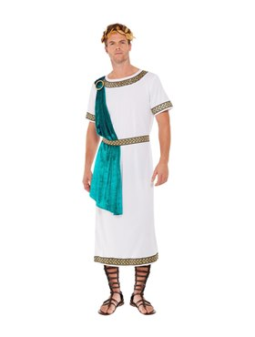Adult Deluxe Roman Empire Emperor Toga Costume Couples Costume