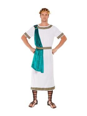 Adult Deluxe Roman Empire Emperor Toga Costume - Back View
