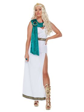 Adult Deluxe Roman Empire Queen Toga Costume