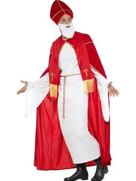 Adult Deluxe Saint Nicholas Costume - Back View