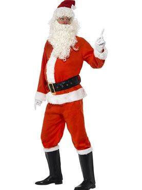 Adult Deluxe Santa Costume - Back View