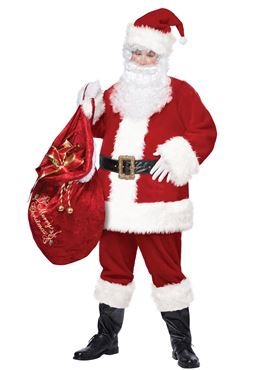 Adult Plus Size Deluxe Santa Suit Costume