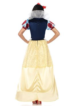 Adult Deluxe Snow White Costume - Back View