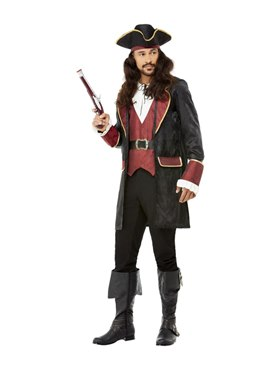 Adult Deluxe Swashbuckler Pirate Costume Couples Costume