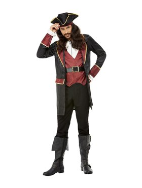 Adult Deluxe Swashbuckler Pirate Costume - Back View