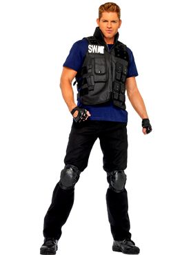 Adult Deluxe SWAT Commander Costume Couples Costume