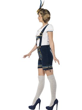 Adult Deluxe Traditional Bavarian Costume - Back View