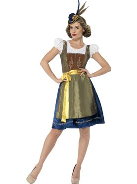 Adult Deluxe Traditional Heidi Bavarian Costume Couples Costume