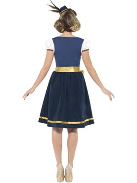 Adult Deluxe Traditional Claudia Bavarian Costume - Side View