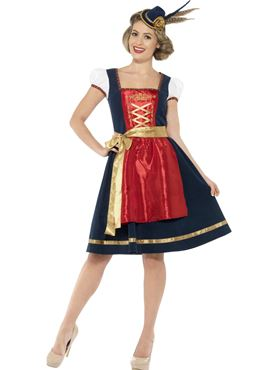 Adult Deluxe Traditional Claudia Bavarian Costume Couples Costume