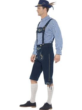 Adult Deluxe Traditional Rutger Bavarian Costume - Back View