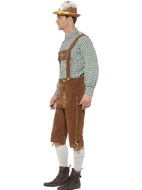 Adult Deluxe Traditional Hanz Bavarian Costume - Back View