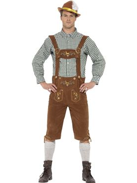 Adult Deluxe Traditional Hanz Bavarian Costume Couples Costume