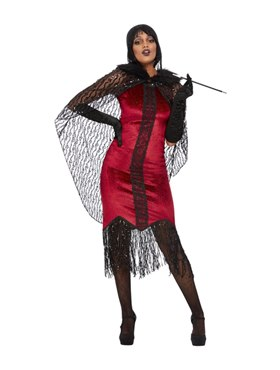 Adult Deluxe Vampire Flapper Costume Couples Costume