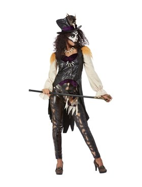 Adult Deluxe Voodoo Witch Doctor Costume - Back View