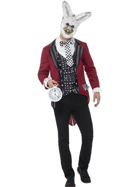 Adult Deluxe White Rabbit Costume