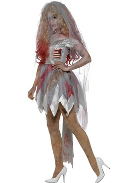 Adult Deluxe Zombie Bride Costume Couples Costume