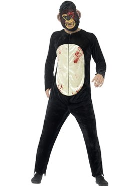 Adult Deluxe Zombie Chimp Costume Couples Costume