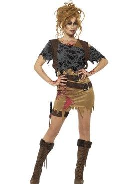 Adult Deluxe Zombie Huntress Costume
