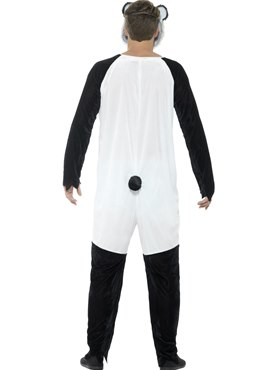 Adult Deluxe Zombie Panda Costume - Side View