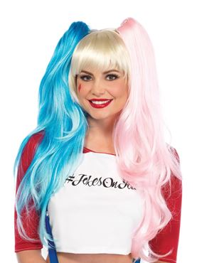 Adult Deluxe Deviant Doll Harley Quinn Wig