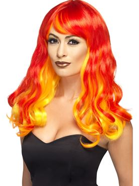Adult Devil Flame Siren Ombre Wig