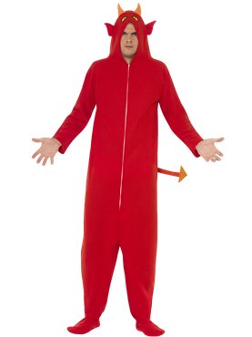 Adult Devil Onesie Costume Couples Costume