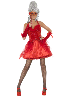 Adult Devilish Masquerade Costume Couples Costume