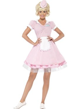 Adult 50s Diner Girl Costume Thumbnail