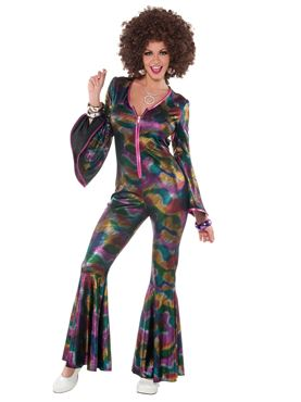 Adult Disco Jumpsuit Couples Costume